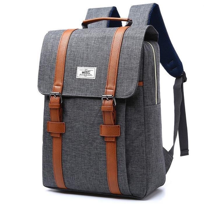 69e14516e6f 2018 Vintage Muži Ženy Plátené batohy Školské tašky pre teenagerov Chlapci  Dievčatá Veľká kapacita Laptop Backpack