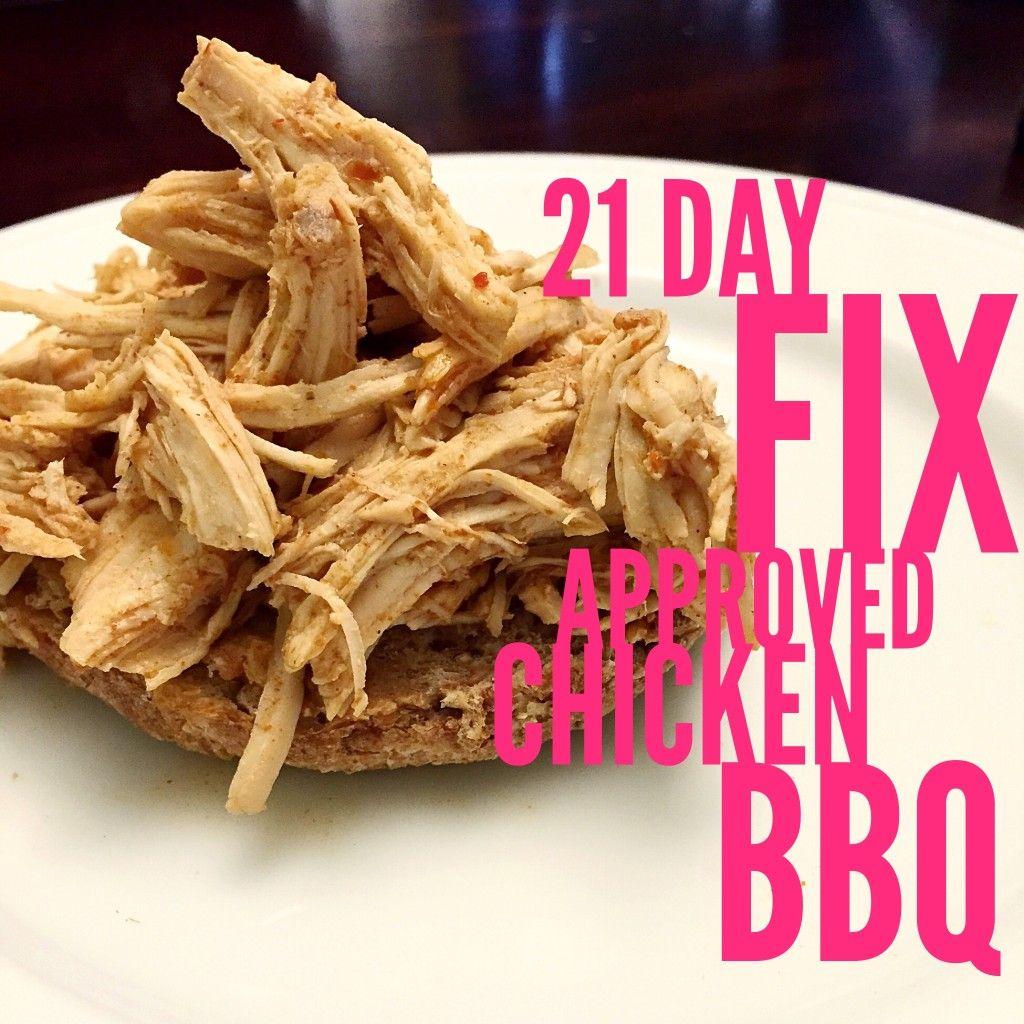 Crockpot BBQ Chicken - 21 Day Fix Approved