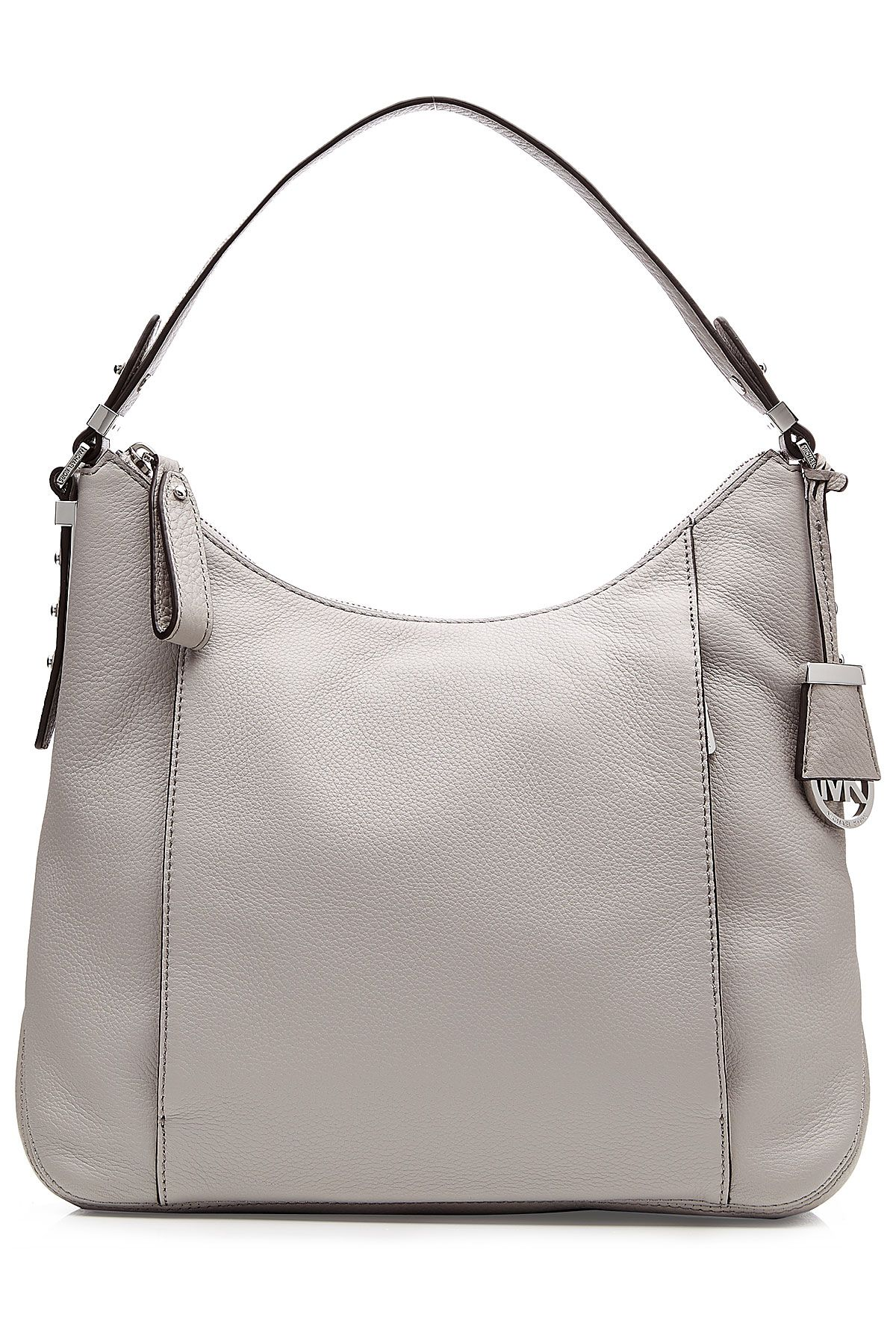 Gabrielle S Amazing Fantasy Closet Michael Kors Soft Gray Leather Hobo Bag