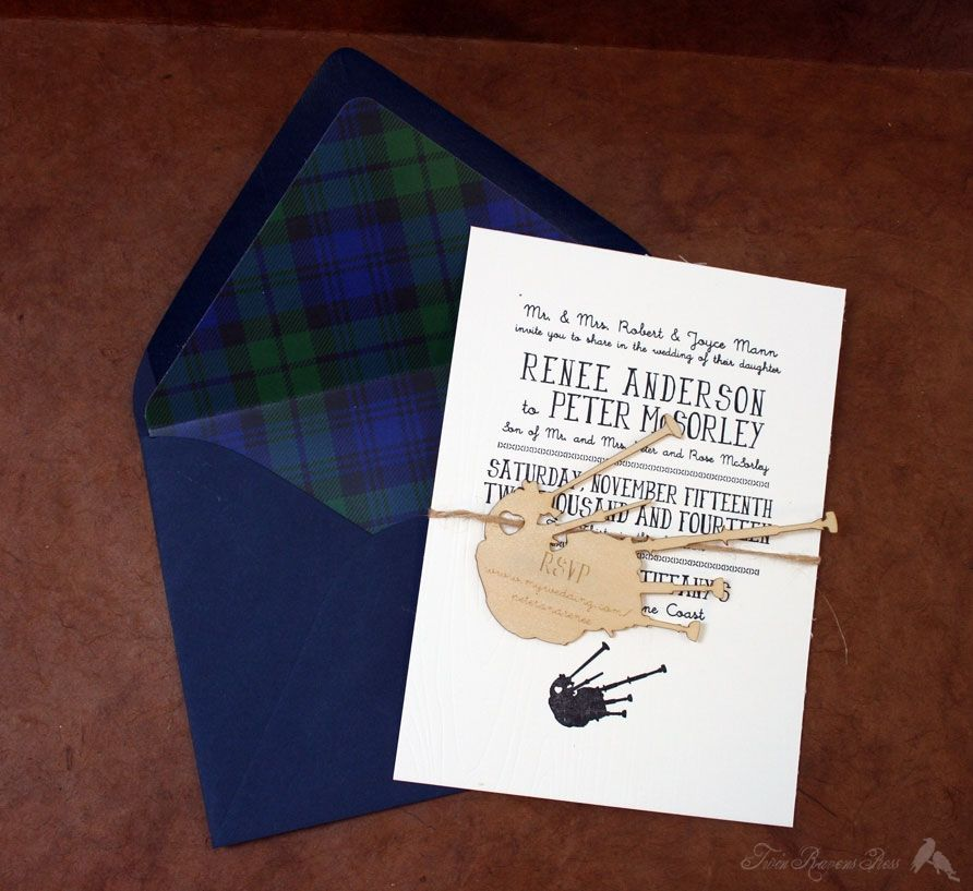 Scottish Themed Wedding Invitations