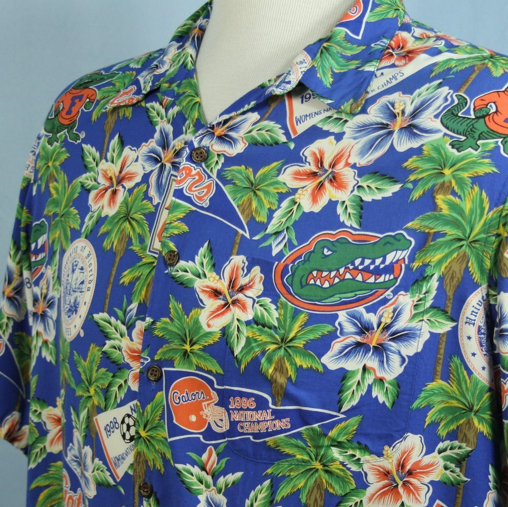 2b2d5319b8279 REYN SPOONER University of Florida GATORS Champions Rayon HAWAIIAN SHIRT  XXL  ReynSpooner  Hawaiian