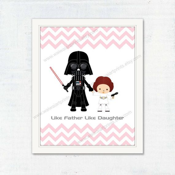 Nursery Art Print. Star Wars Poster Darth Vader by waiwaiartprints
