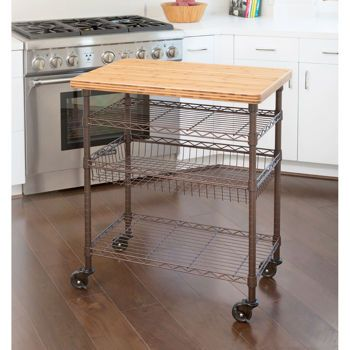 Costco Professional Chef S Kitchen Cart With Solid Bamboo Top