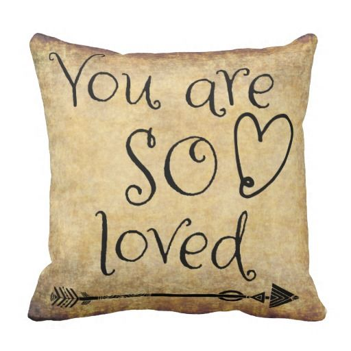 Vintage Love Throw Pillow #love #quotes #pillows