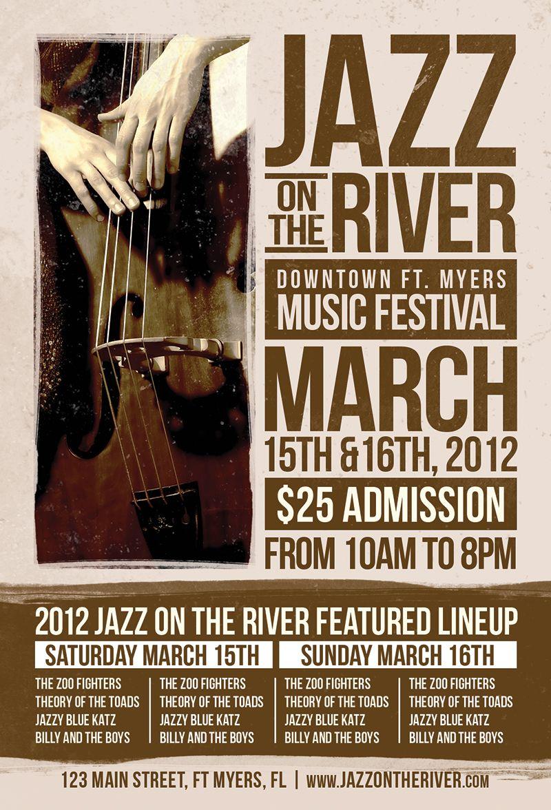 Jazz Fest Flyer   jazz party   Pinterest   Vivir