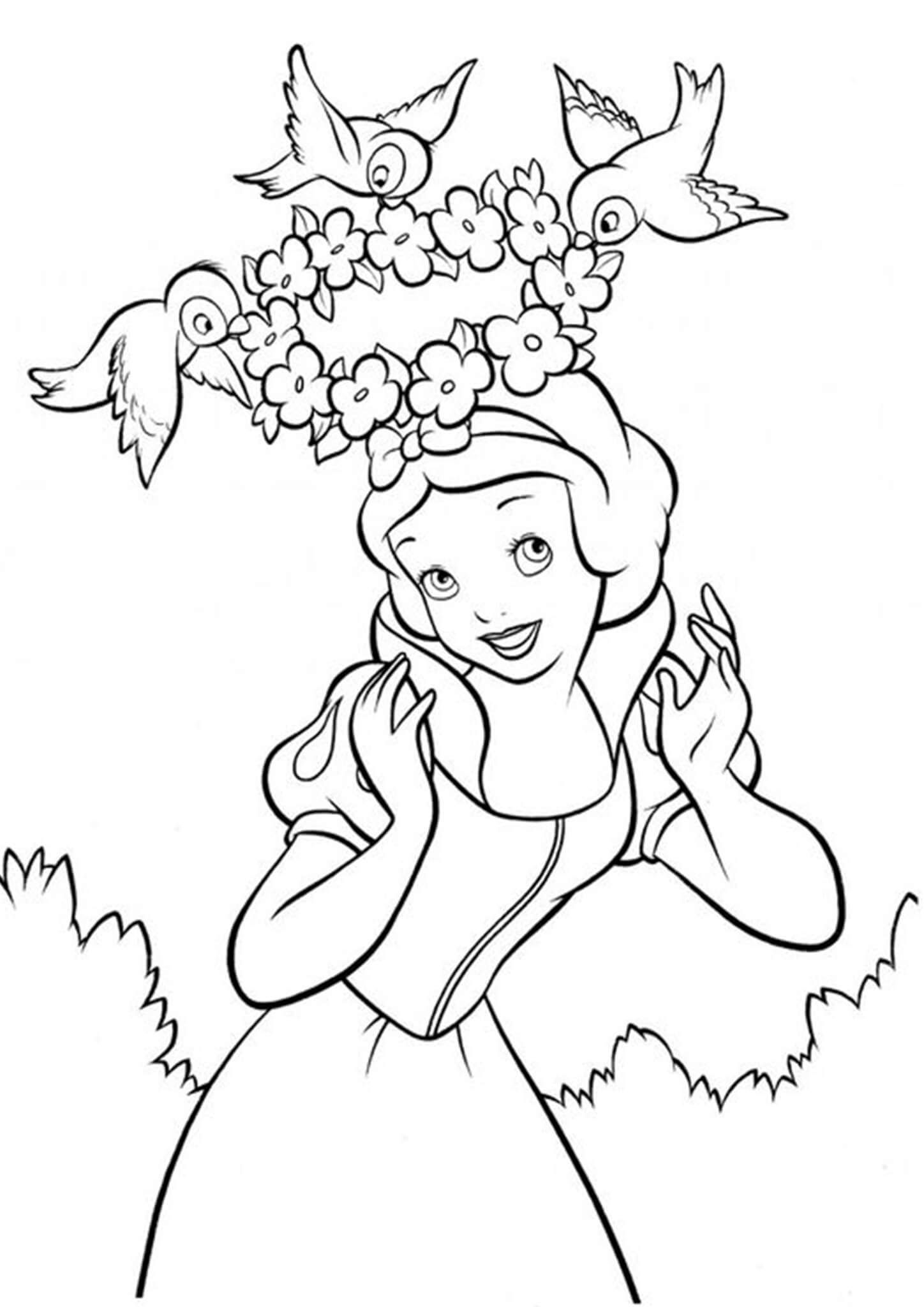Free Easy To Print Snow White Coloring Pages In 2021 Snow White Coloring Pages Unicorn Coloring Pages Disney Princess Coloring Pages