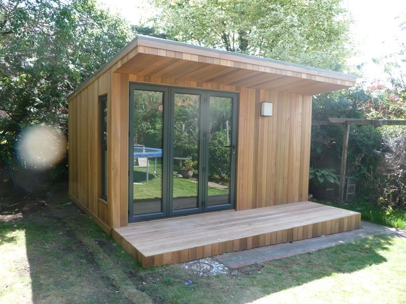Vertical cladding cedar modern design pinterest for Cedar garden office