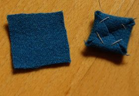 I fold the corners inside and sew through them...