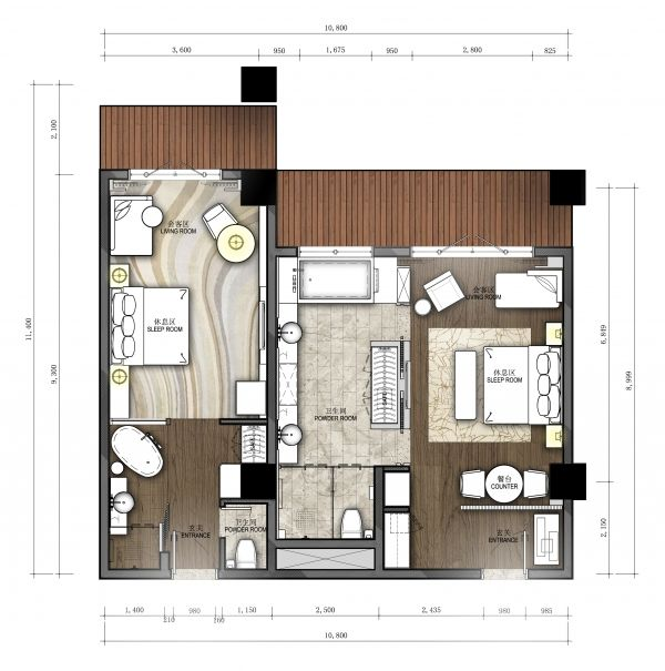 00 layout pinterest planos for Hoteles en planta
