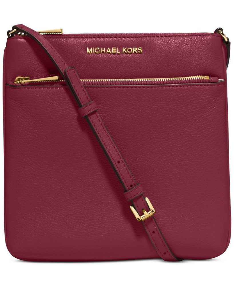 33d2b32dfa7c Michael Kors Riley Small Flat Crossbody Leather Mulberry NWT #MichaelKors  #MessengerCrossBody