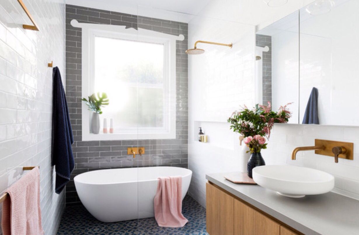 Uberlegen Bad Grau Blau Kupfer. Bathroom InspoBathroom IdeasBathroom DesignsHome ...