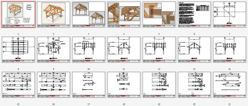This 12x14 Timber Frame Plan Will Bend Itself Into What Ever Structure You Need It To Be Whether A Timbered Shed Porch Or Pavilion Bindingsvaerk Pergola Ideer