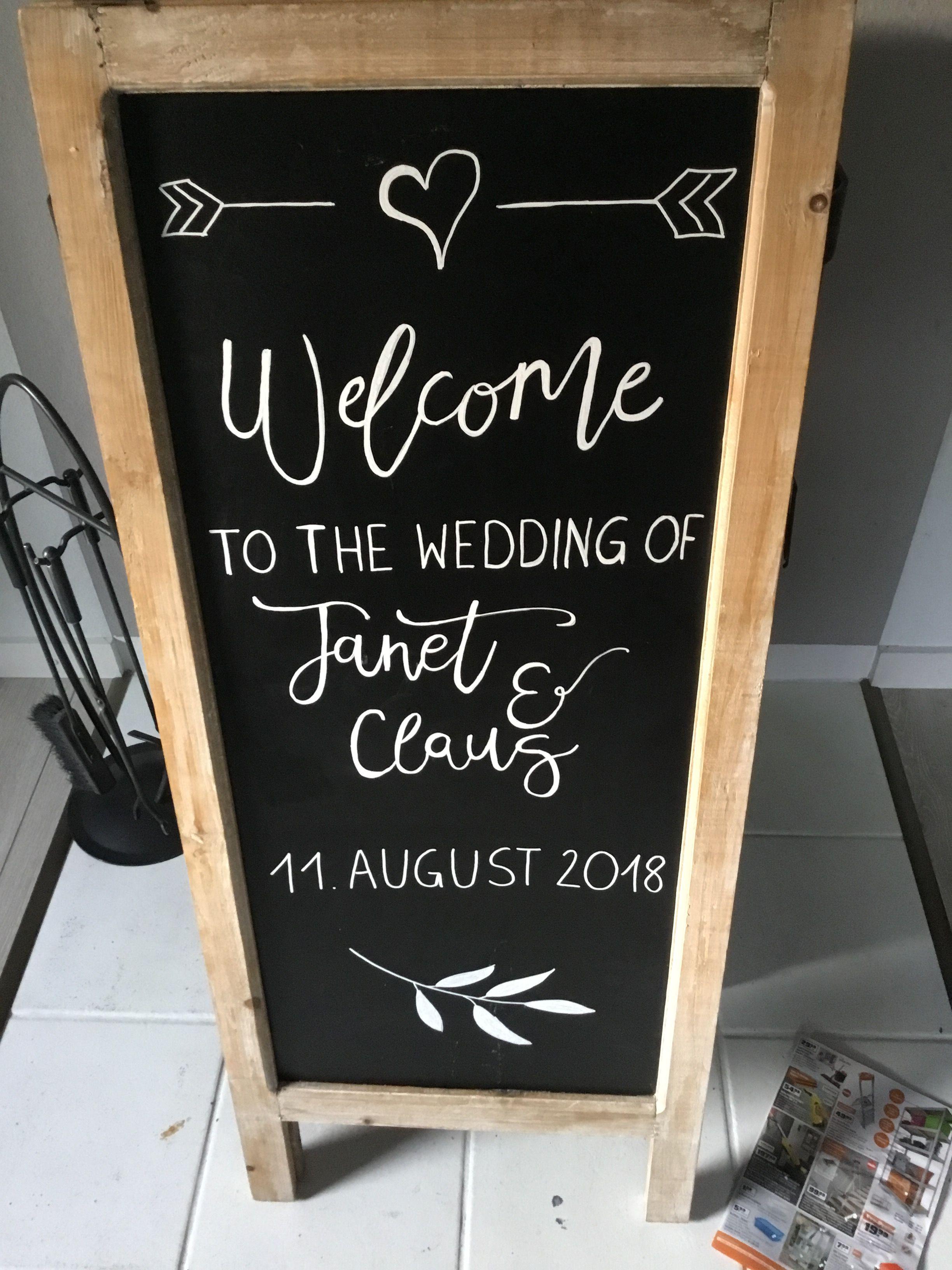 Handlettering Willkommenstafel Hochzeit Tagesablauf Hochzeit Leinwand Hochzeit Hochzeit