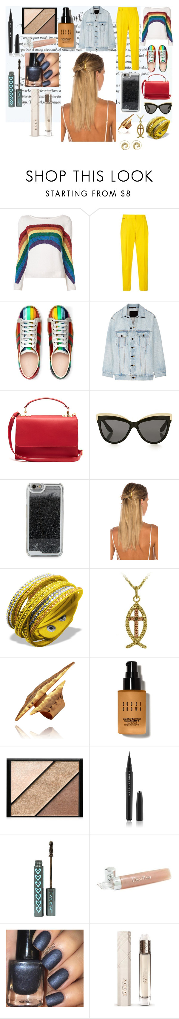 """""""Abibliophobia."""" by it-srabina ❤ liked on Polyvore featuring Marc Jacobs, Paul Smith, Gucci, Alexander Wang, Sophie Hulme, Topshop, LMNT, HAIR DESIGNACCESS, DB Designs and Bobbi Brown Cosmetics"""