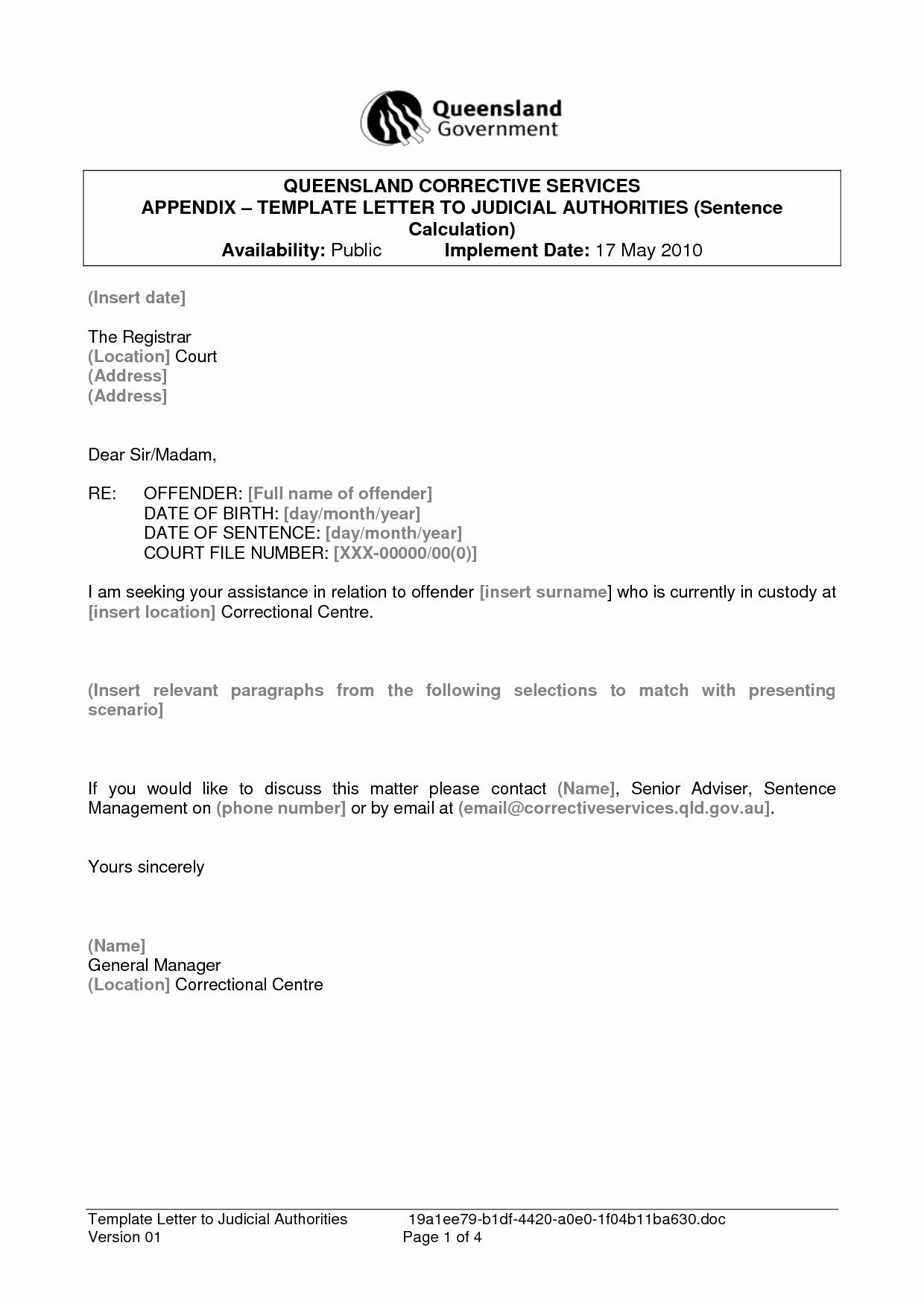 Letter format for Court Beautiful formal Letter format to
