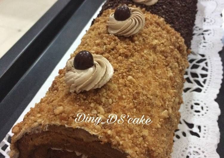 Resep Roll Cake Mocca Nougat Oleh Diny Fe Resep Makanan Manis Makanan Resep Kue
