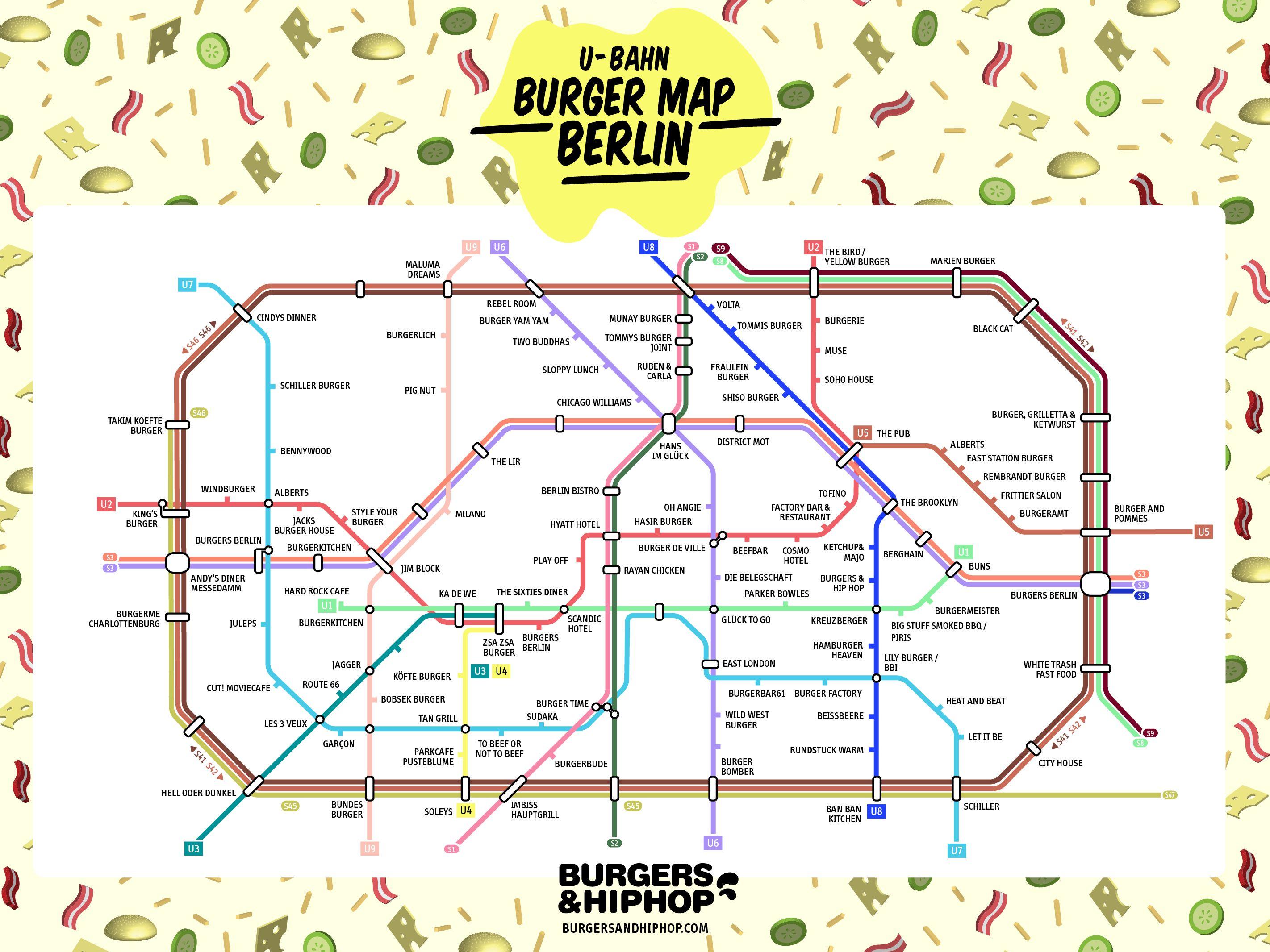 U bahn burger map of berlin