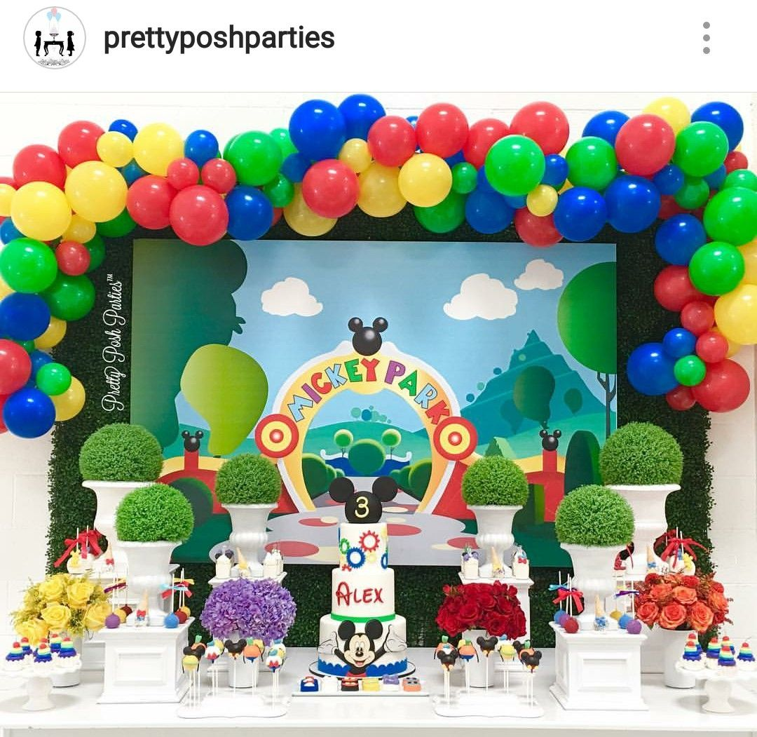 Mickey Mouse Clubhouse Birthday Party Dessert Table A Mickey Mouse Clubhouse Birthday Party Decorations Mickey Mouse Birthday Decorations Mickey Mouse Birthday