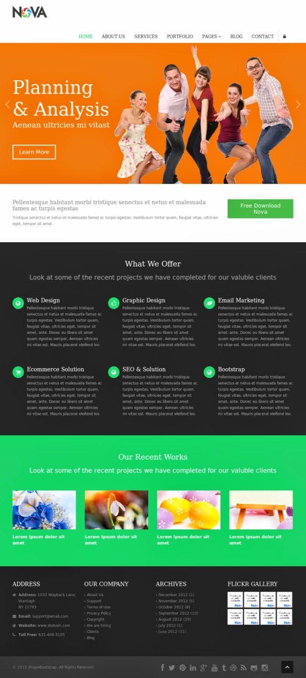 Free Bootstrap Templates Free Dreamweaver Mobile Friendly Web