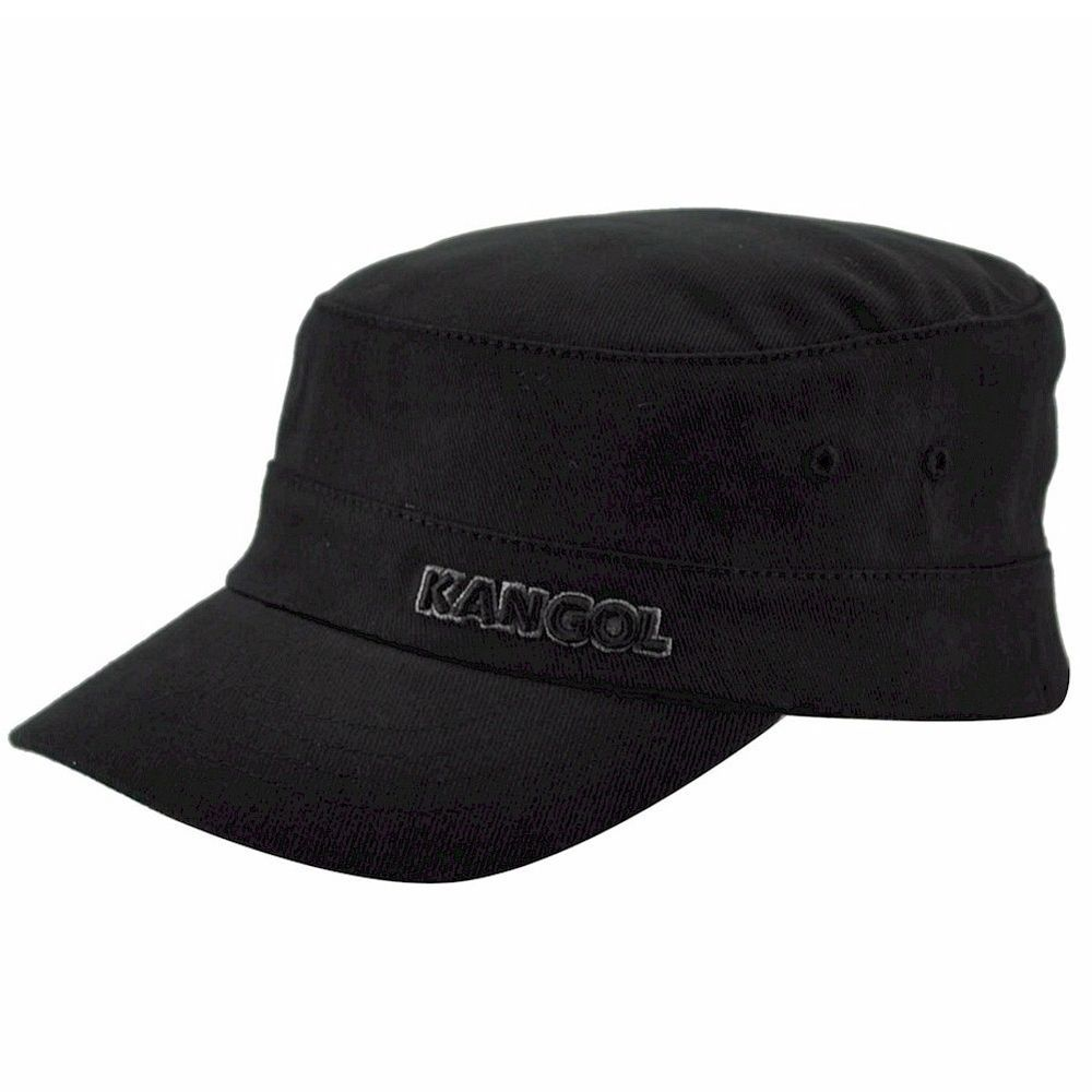 8d85b5cf9b6 Kangol Men s Cotton Twill Army Cap Black Hat  Kangol  CadetMilitary ebay  buy now