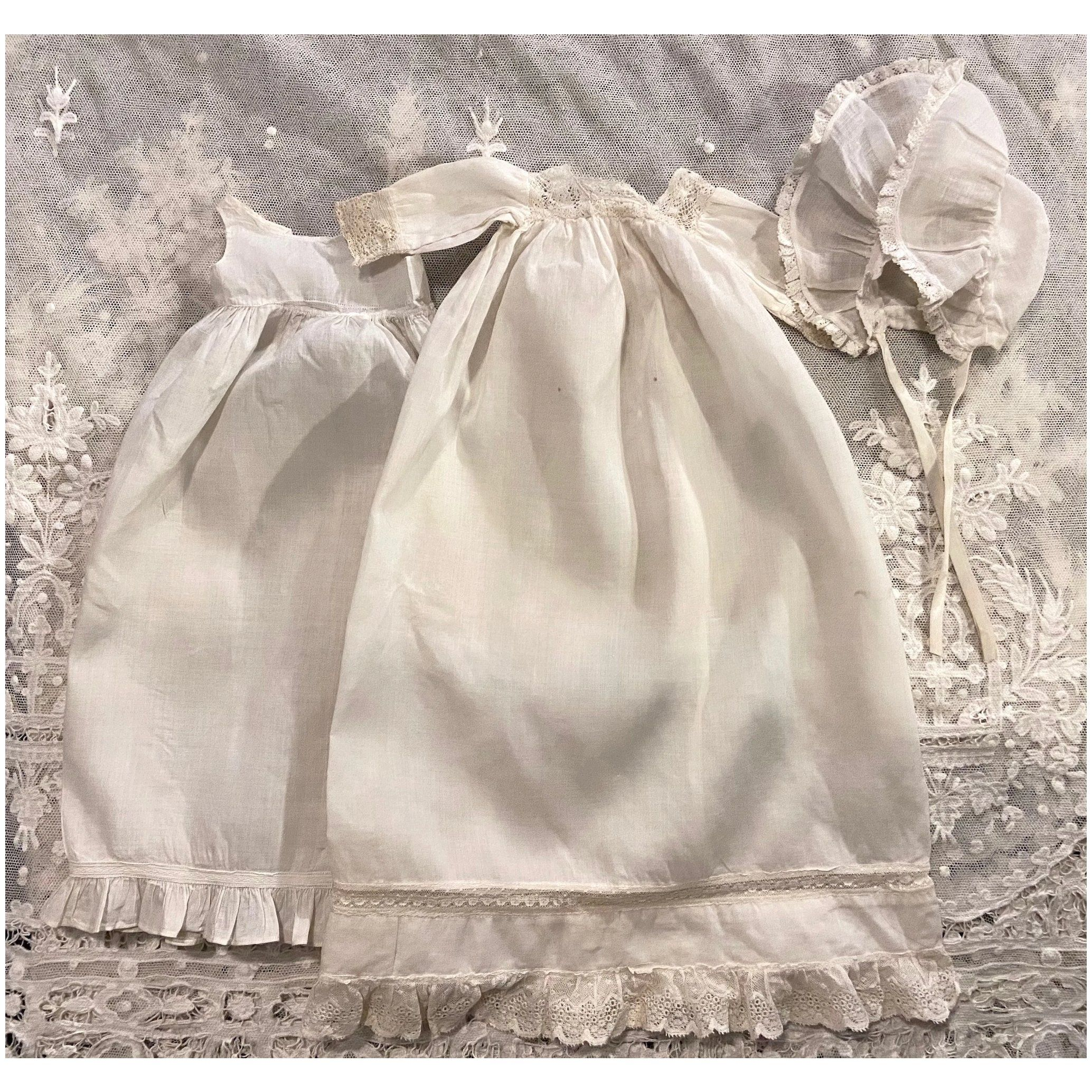 Authentic Antique Broderie Anglaise Dress with Beautiful