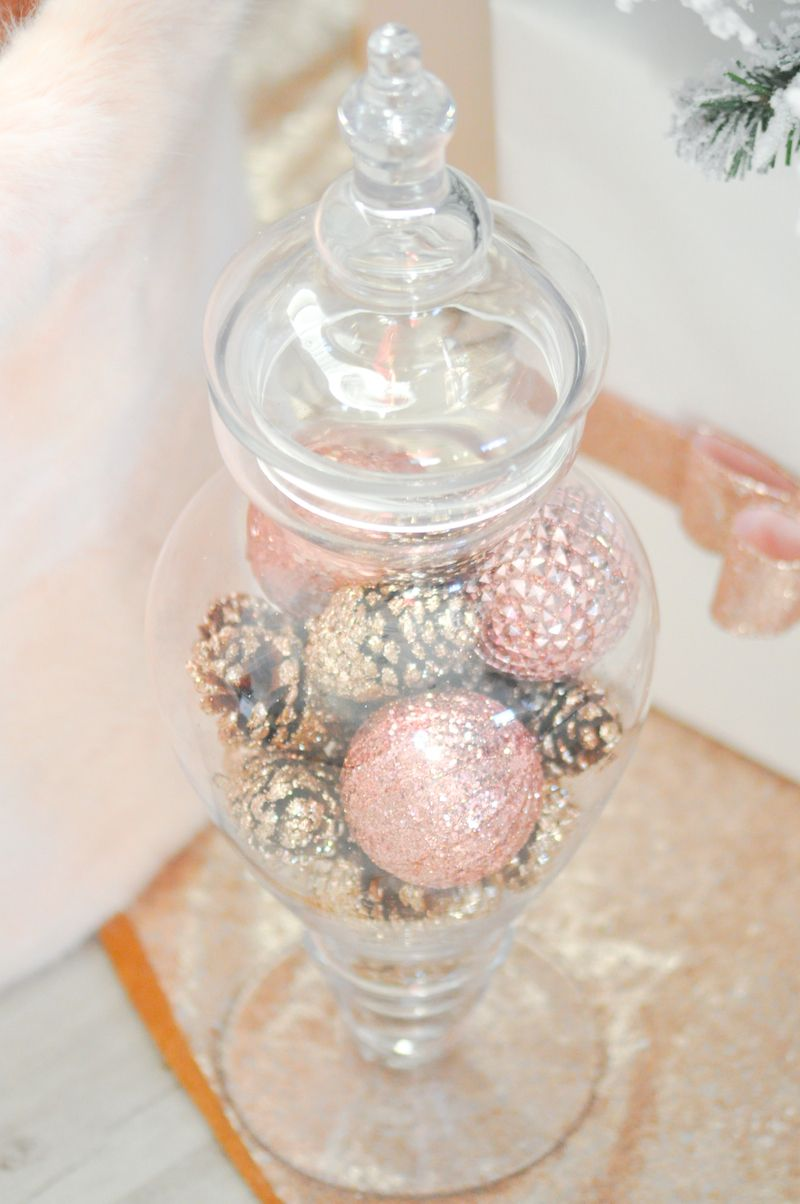 Blush Pink Vintage Inspired Tree Gold Christmas Decorations