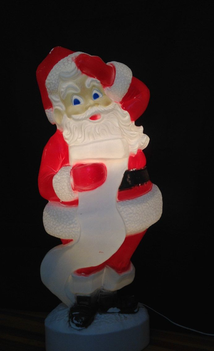 Extra large 43 tall santa claus lighted plastic blow mold extra large 43 tall santa claus lighted plastic blow mold christmas yard lawn ornament whimsical kitschy outdoor light decor yesteryears aloadofball Image collections