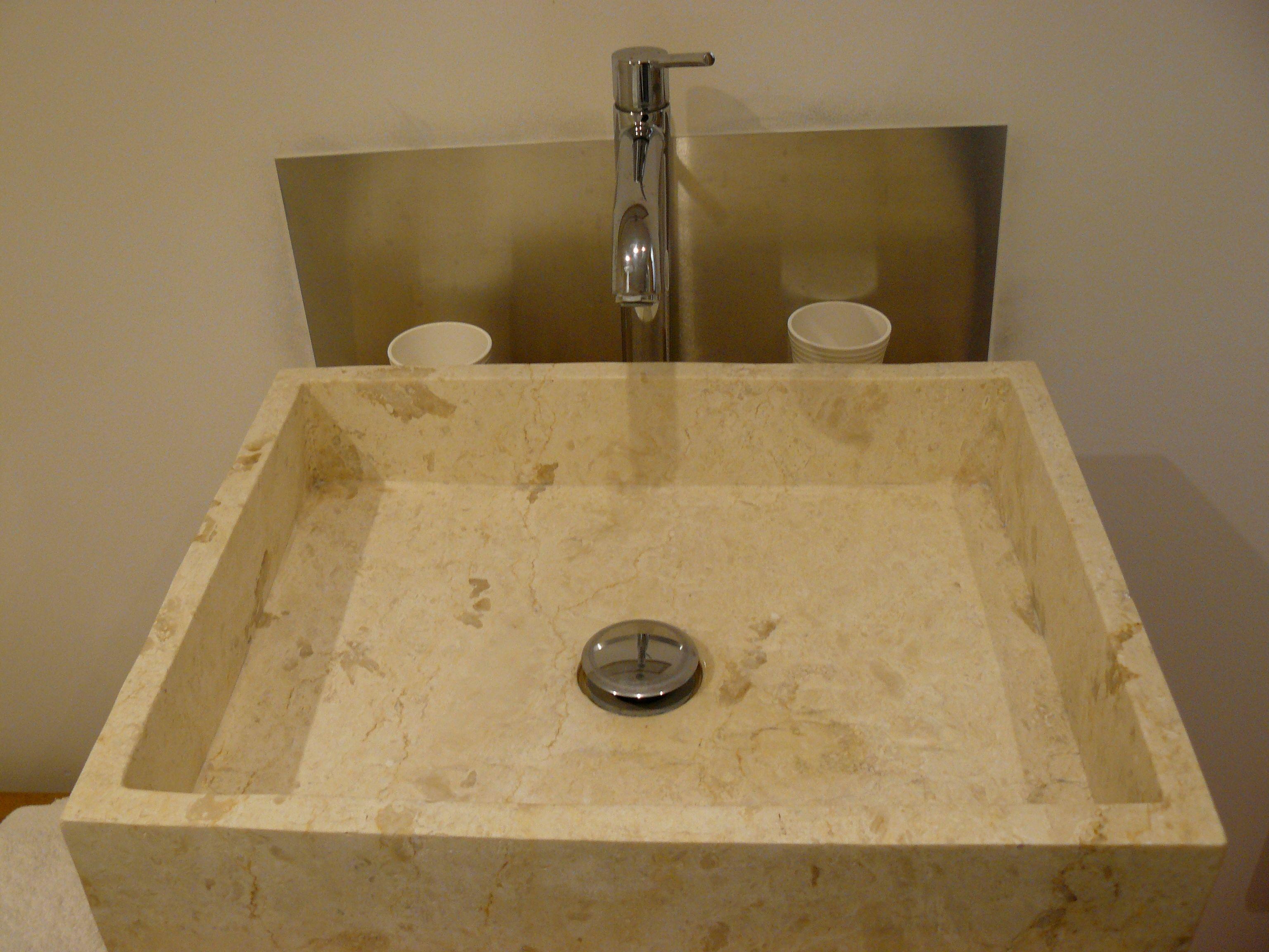 Wasbak badkamer steen inside pinterest