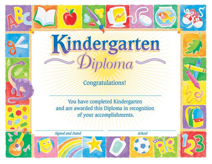 $549 Kindergarten Classic Diploma Certificate, 8-1\/2 - congratulations certificate