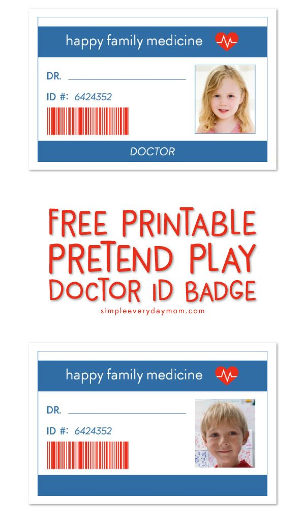 Pretend Play Doctor Printables That Ll Ignite Their Imagination Dramatic Play Printables Dramatic Play Preschool Kids Playing Doctor