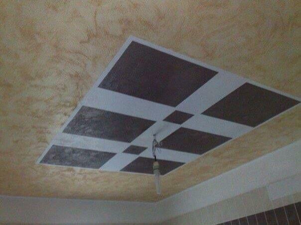 Controsoffitto bagno ~ Decorazione materica soffitto bagno con alpha desert by sikkens
