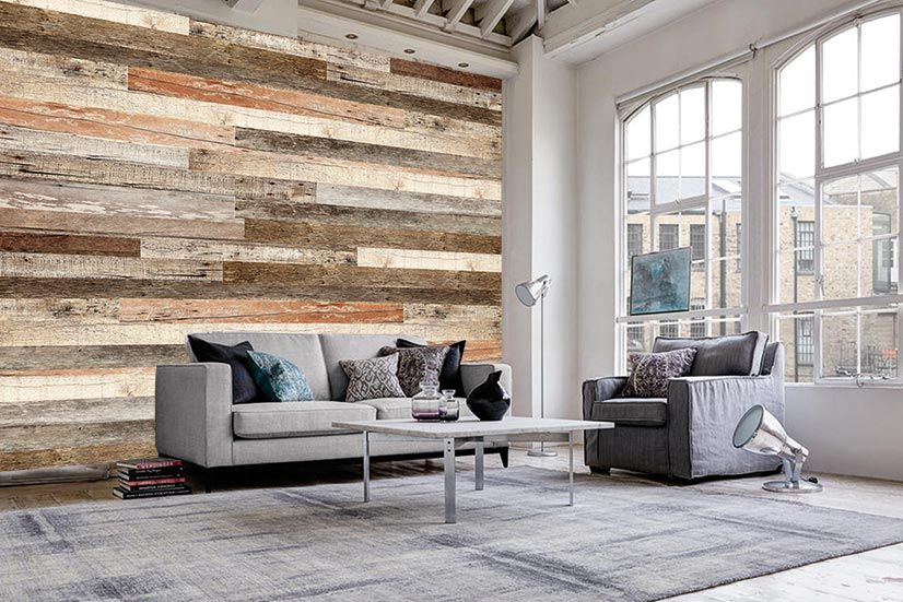 There S Wallpaper That Looks Like Wood Wood Wallpaper Living Room Wood Plank Walls Wood Plank Wallpaper