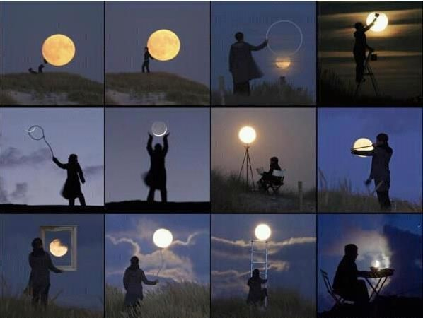 Pictures with the moon