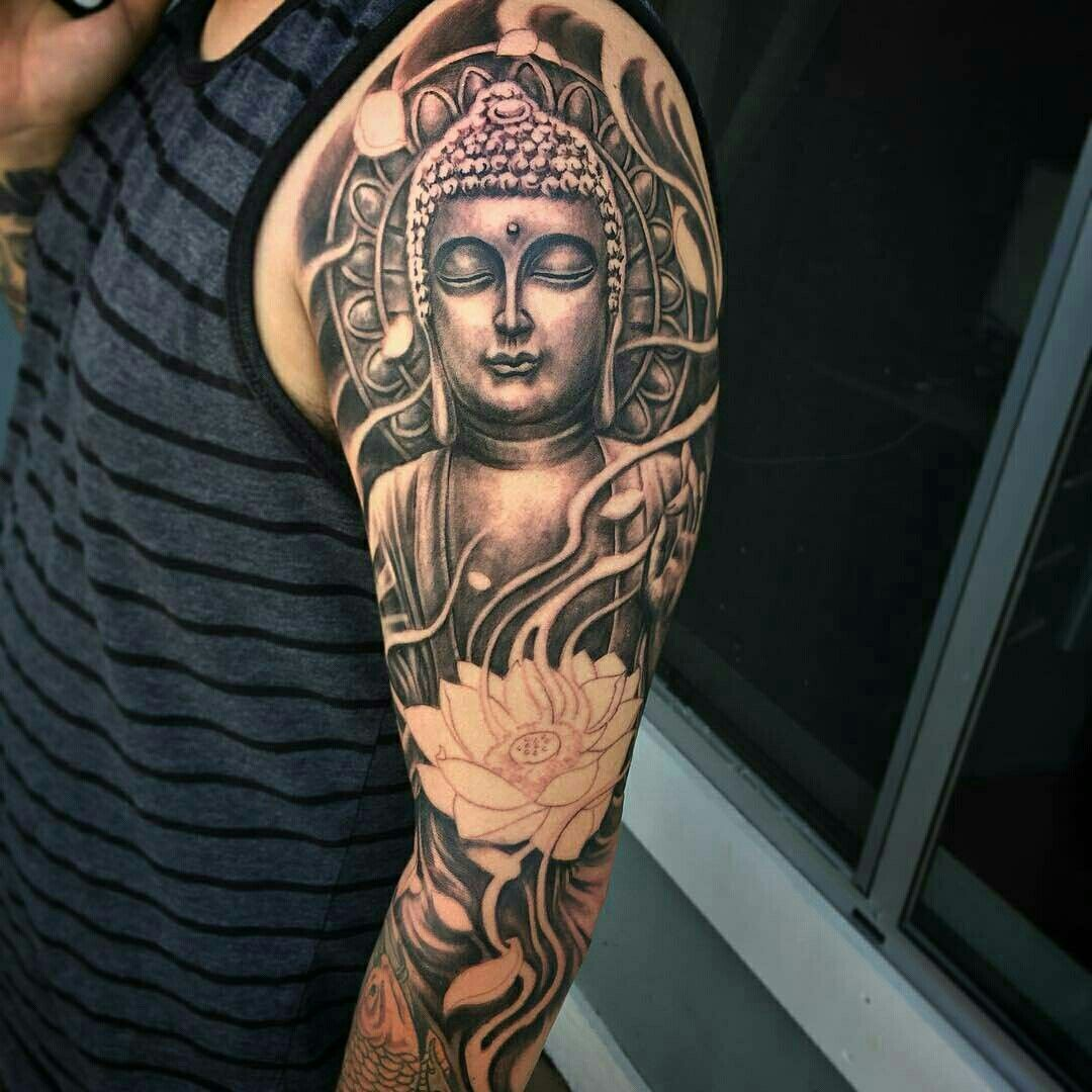 Buddha Tattoos Buddha Tattoos Lotus Tattoo Hindu Tattoos Ganesha Tattoo Buddhist Symbol Tattoos Tattoo Ink Ge In 2020 Buddah Tattoo Buddha Tattoo Sleeve Buddha Tattoos