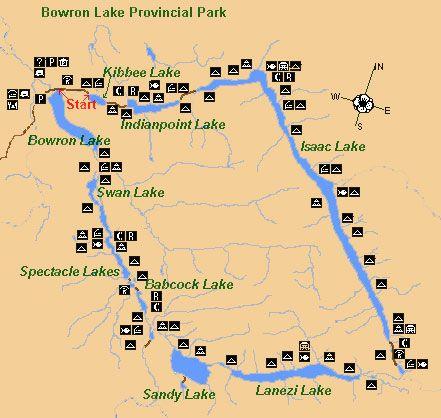 Bowron Lakes Canada Map Travel BC Van and RV Sales | Canoe trip, Canoe, Kayaking