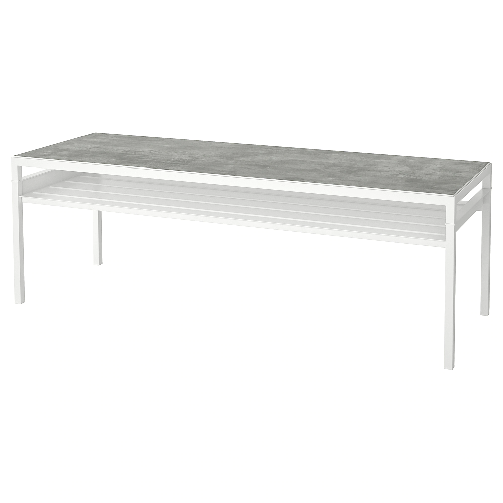 Nyboda Coffee Table W Reversible Table Top Light Gray Concrete Effect White 47 1 4x15 3 4x15 3 4 Ikea In 2021 Table Top Lighting Coffee Table Ikea Coffee Table [ 1000 x 1000 Pixel ]