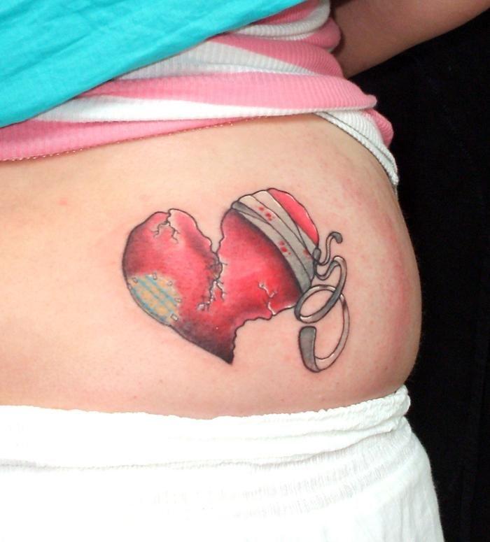 Broken Heart Tattoos Tattoo Ideas Tattoo Heart Bird border=