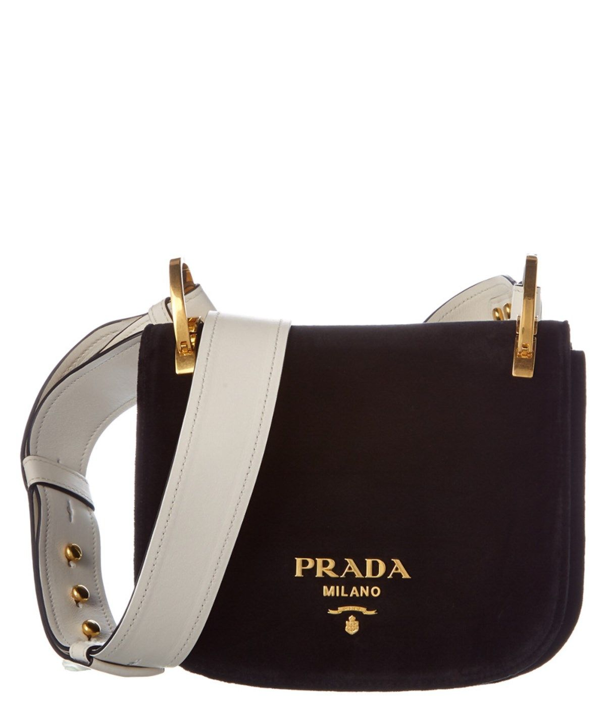 de3cd50e013a PRADA PRADA PIONNIERE VELVET SADDLE BAG .  prada  bags  shoulder bags   leather  velvet  lining