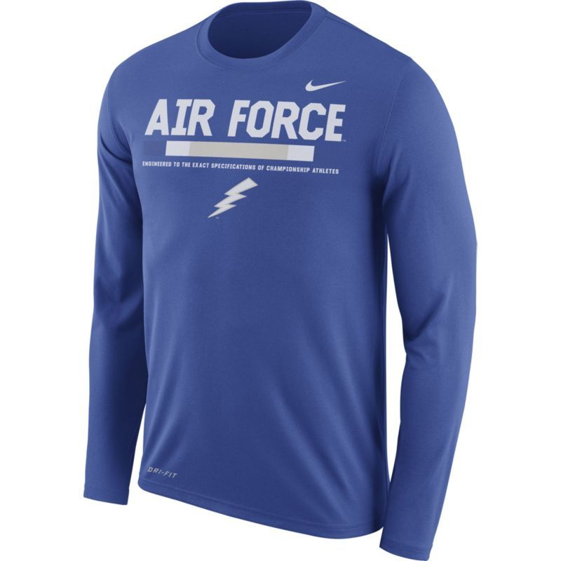 release date: d38f9 c6aed Nike Men s Air Force Blue Football Sideline Staff Legend Long Sleeve Shirt,  Size  Medium, Team