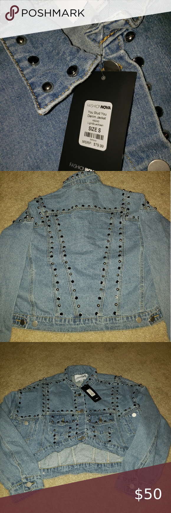 Jean Jacket In 2020 Jean Jacket Studded Jeans Womens Fashion Shopping