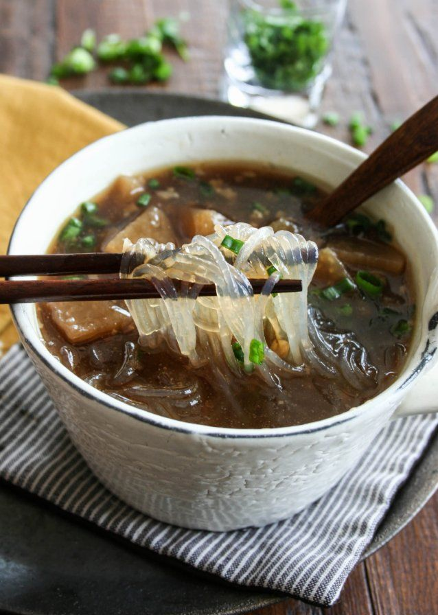 The Culinary Tribune › Daikon Noodle Soup<br>とろとろ大根ヌードルスープ
