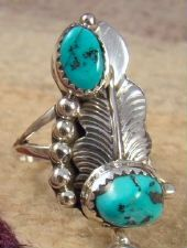 Photo of Item # 660B-Ladies Navajo 8 Stone Turquoise Prayer Feathers Slave Watch Bracelet by YAZZIE —Native American Watch Bracelets- EAGLE ROCK TRADING POST-Native American Jewelry