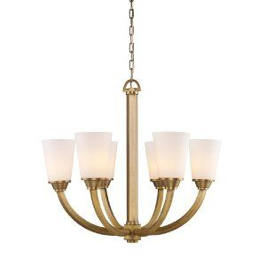 Landmark 73008-6 Winthrop 6-Light Chandelier, 24-Inch, Brushed Antique Brass