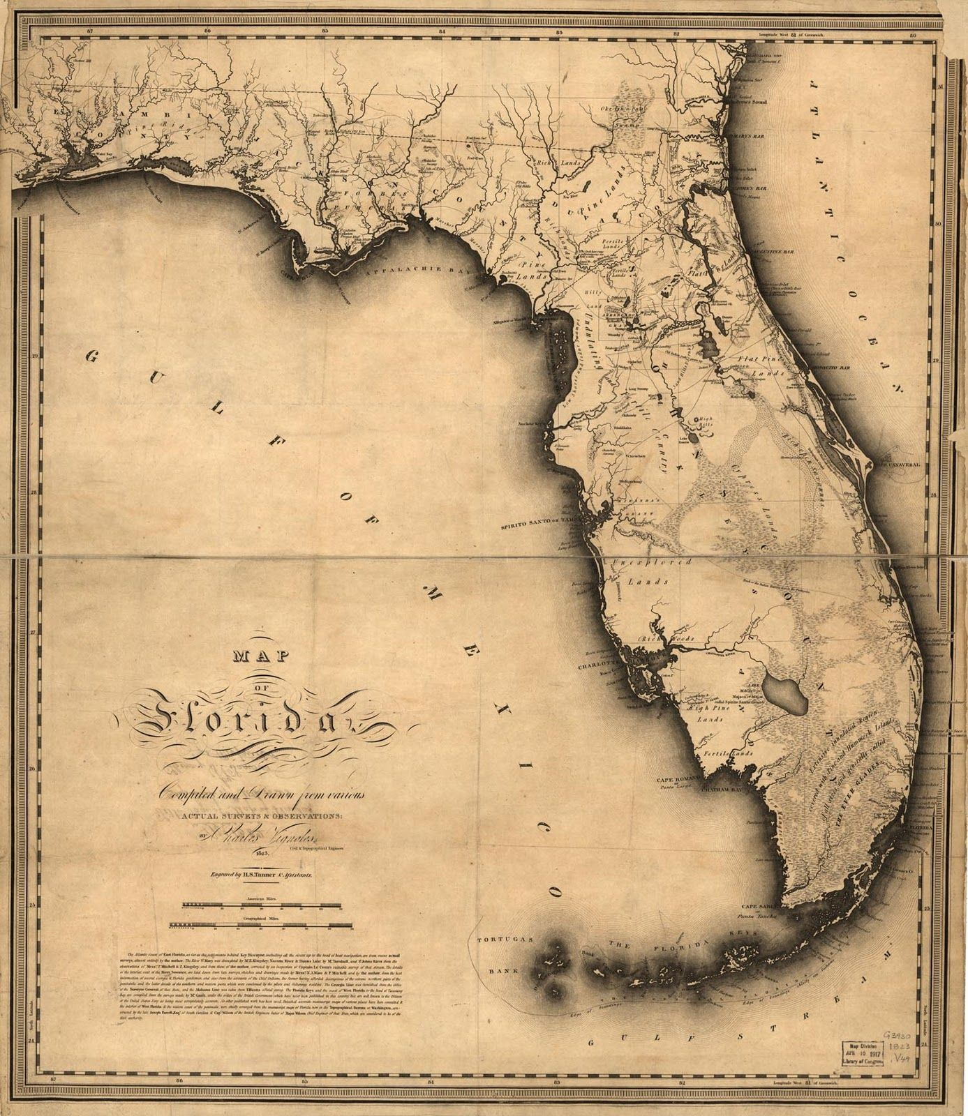 Antique Map Of Florida.1823 Florida State Map Florida United States Me Likey Florida