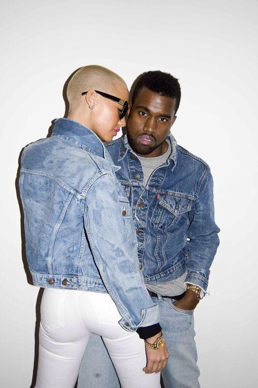 Denim Duo Amber Rose X Kanye West Kanye West Style Kanye And Amber Rose Terry Richardson