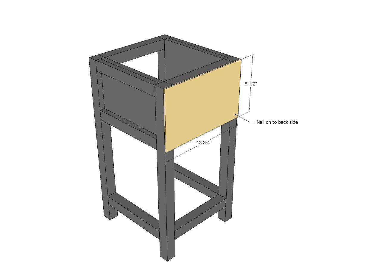 Best Mini Farmhouse Bedside Table Plans Table Plans Table 400 x 300