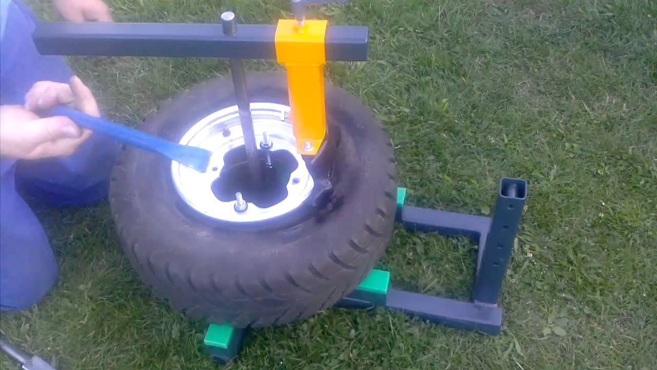 Diy Build Manual Tire Changer Changing Quad Front Tires Tire Diy Welding Projects