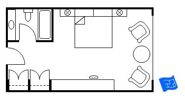 Master Bedroom Ensuite Design Layout master bedroom floor plan - standard hotel layout. click through