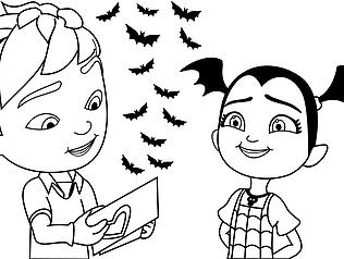Free Printable Disney Junior Vampirina Coloring Pages For Kids Barbie Coloring Pages Coloring Pages Barbie Coloring
