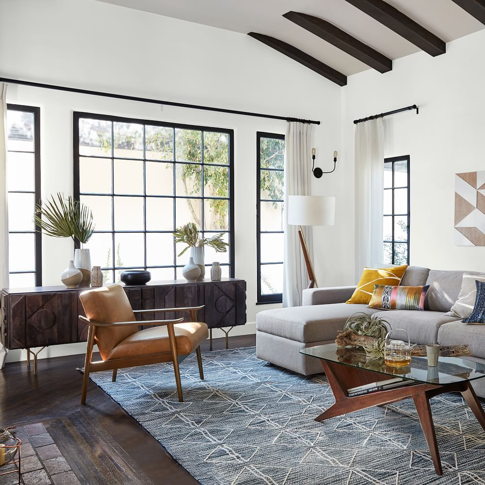 Elm Grove Apartments: Mid-Century Leather Show Wood Chair In 2019